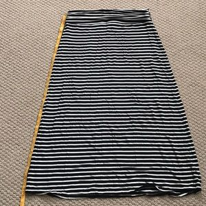 Black & White Striped J. Crew Maxi Skirt